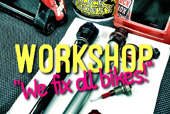 We fix all bikes in our Workshop