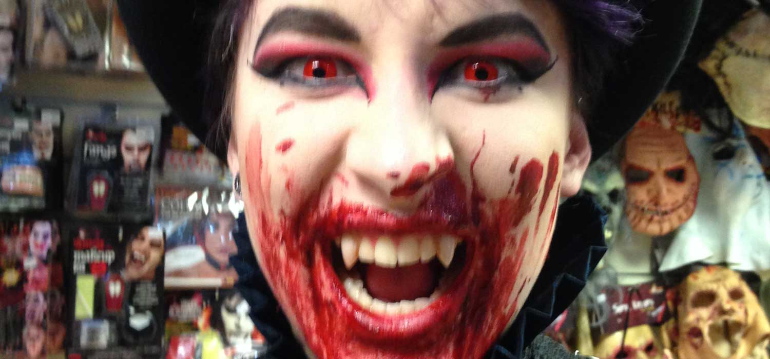 Buy Halloween blood at Revamp Fancy Dress, Brighton