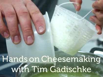 Hands on Cheesemaking with Tim Gadischke of Coal River Farm