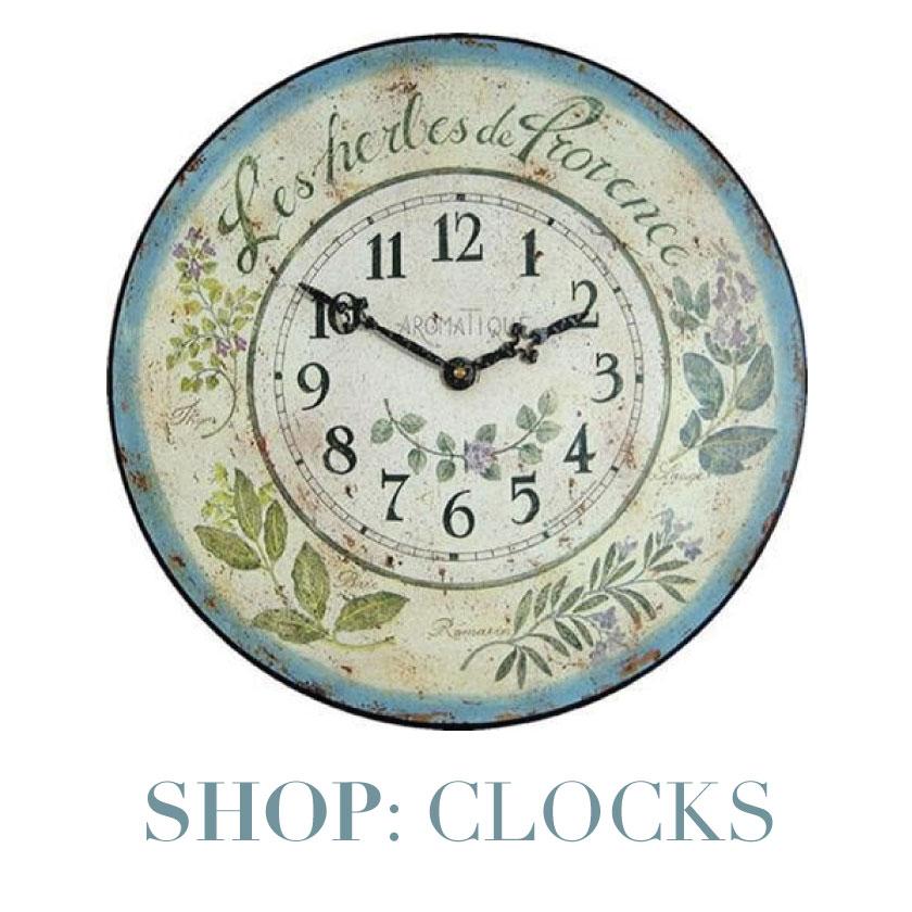 Clocks at Angela Reed