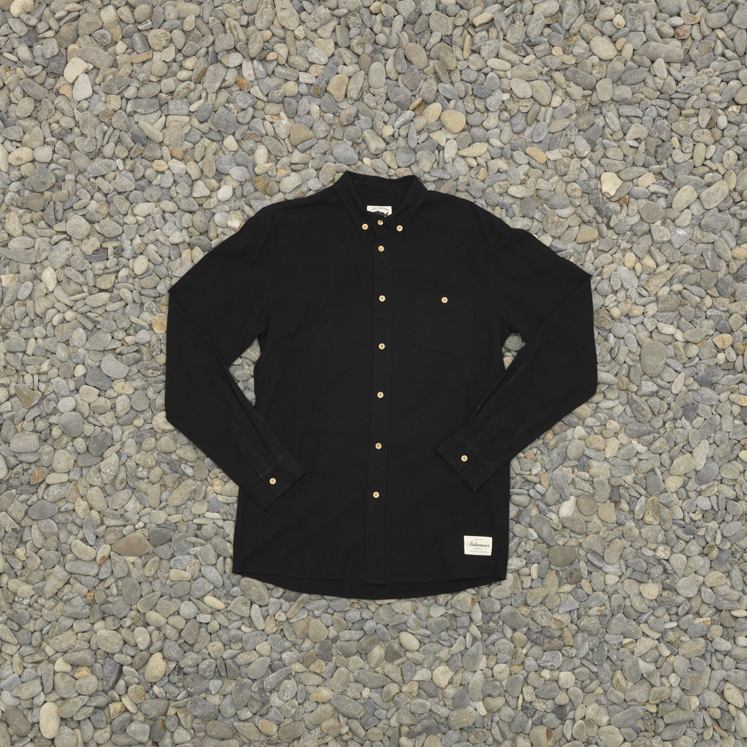JUST ANOTHER FISHERMAN ANCHORAGE SHIRT BLACK