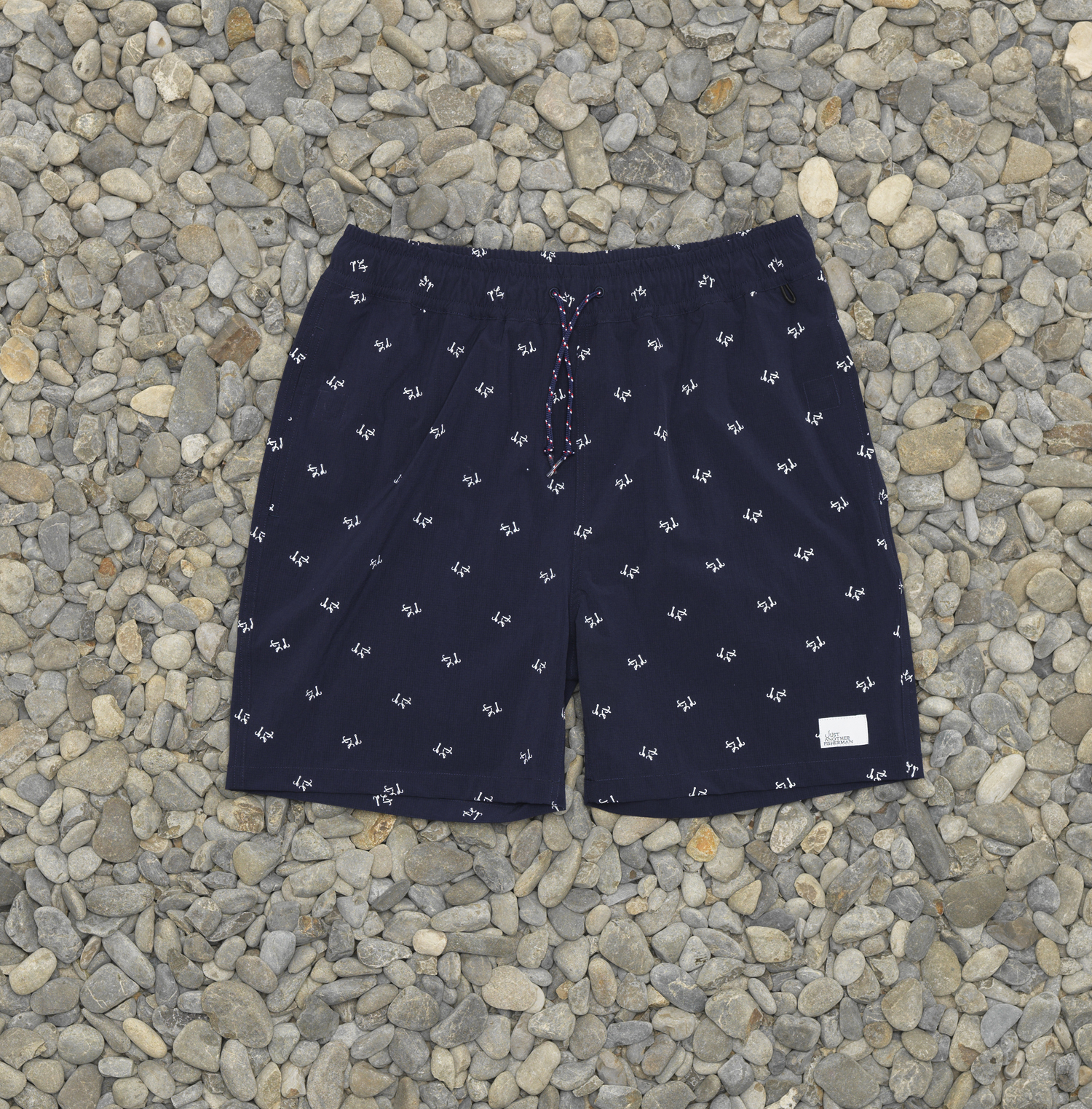 JUST ANOTHER FISHERMAN TREBLE CREWMAN SHORTS NAVY