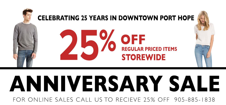 25th Anniversary Sale