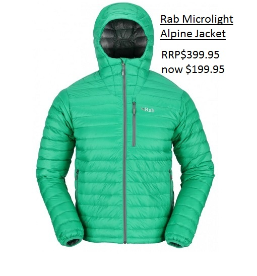 Rab Microlight Alpine Jacket $199.95